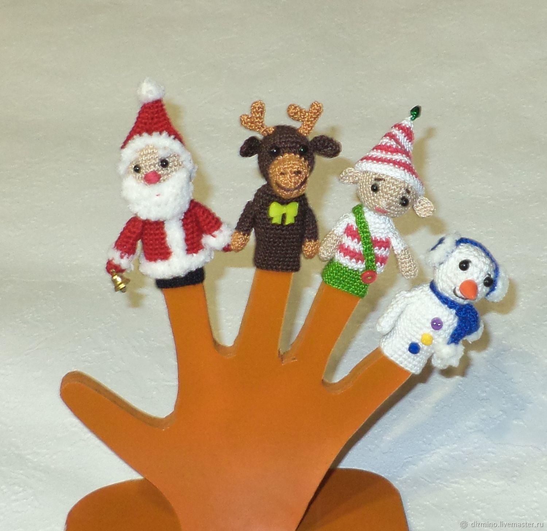 пальчиковые куклы дед мороз олень снеговик, Кукольный театр, Яр,  Фото №1