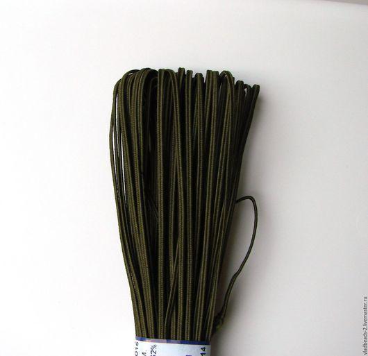 Для украшений ручной работы. Ярмарка Мастеров - ручная работа. Купить Хаки сутаж белорусский 2,5мм. Handmade. Сутаж