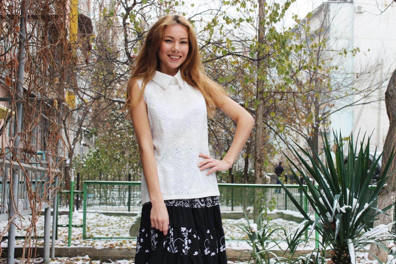Boho blouse cotton-sewing, Blouses handmade, Tashkent, Фото №1