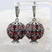 Украшения handmade. Livemaster - original item Classic Garnet earrings with garnets made of 925 GA0047 silver. Handmade.