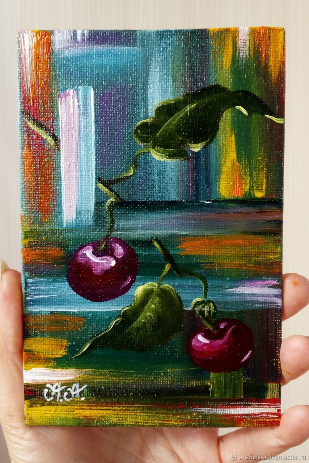 Author's miniature oil painting 'Life binding' 10/15, Pictures, Moscow,  Фото №1