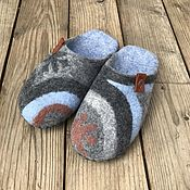 Обувь ручной работы handmade. Livemaster - original item Felted women`s slippers