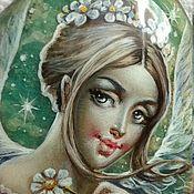 Украшения ручной работы. Ярмарка Мастеров - ручная работа Ангел с ромашкой. Handmade.