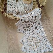 Для дома и интерьера ручной работы. Ярмарка Мастеров - ручная работа Мерное кружево филейная кайма связанная крючком. Handmade.