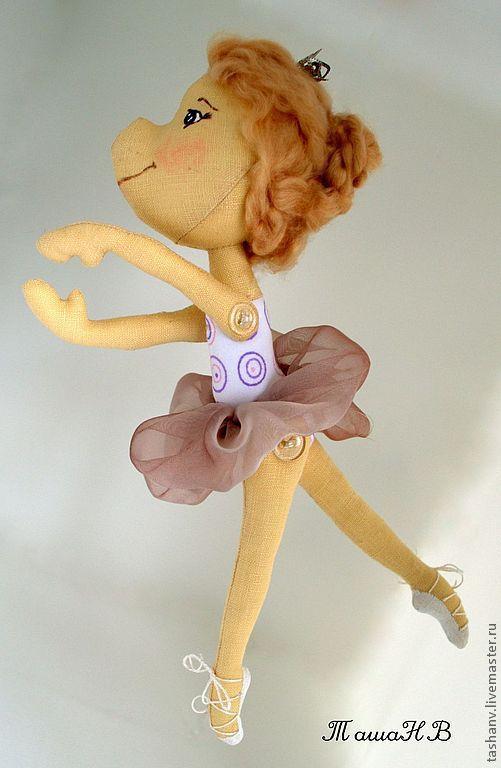 Коллекционные куклы ручной работы. Ярмарка Мастеров - ручная работа. Купить Маленькая балерина Луна. Handmade. Бежевый, принцесса, хлопок