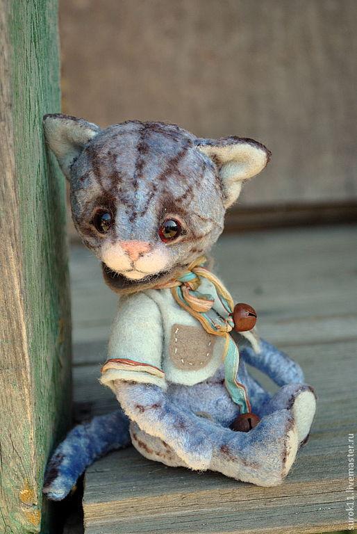 Мишки Тедди ручной работы. Ярмарка Мастеров - ручная работа. Купить Баксик. Handmade. Плюшевая игрушка, котенок, опилки древесные