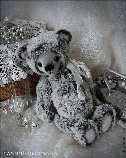 Мишки Тедди ручной работы. Ярмарка Мастеров - ручная работа. Купить мишка Зимний вечер. Handmade. Серый, зимний вечер