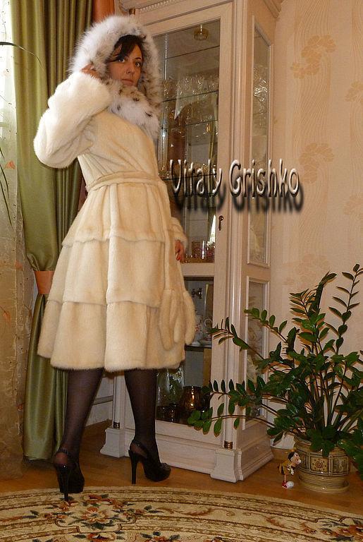"""Верхняя одежда ручной работы. Ярмарка Мастеров - ручная работа. Купить Шубка """"Christabel"""". Handmade. Бежевый, мех, рысь"""