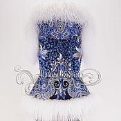 """Одежда ручной работы. Ярмарка Мастеров - ручная работа Жилет с отстёгивающимся капюшоном """"Морозко-27""""с натуральным мехом ламы. Handmade."""