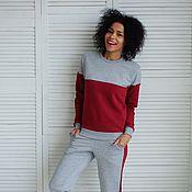 Одежда ручной работы. Ярмарка Мастеров - ручная работа Комплект Серо-бордовый. Handmade.