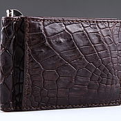 Сумки и аксессуары handmade. Livemaster - original item Crocodile leather money clip IMA0026VK55. Handmade.