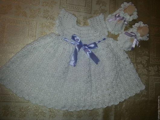Одежда для девочек, ручной работы. Ярмарка Мастеров - ручная работа. Купить Ажурное платье для девочки.. Handmade. Белый, воздушное платье