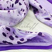 """Аксессуары handmade. Livemaster - original item Шёлковый платок из ткани Roberto Cavalli """"Purple python"""" сиреневый. Handmade."""