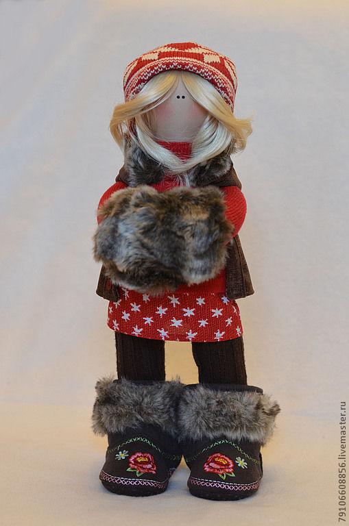 Коллекционные куклы ручной работы. Ярмарка Мастеров - ручная работа. Купить Герда. Handmade. Коллекционная кукла, вельвет