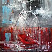 Картины и панно ручной работы. Ярмарка Мастеров - ручная работа The bottle of a rain. Handmade.