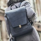 Сумки и аксессуары handmade. Livemaster - original item Womens leather backpack ANGLE. Handmade.