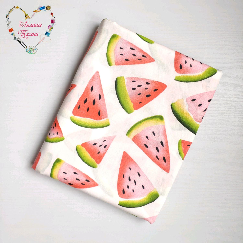Fabrics cotton satin China Watermelon, Fabric, Moscow,  Фото №1
