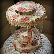 Для дома и интерьера ручной работы. Ярмарка Мастеров - ручная работа Vintage Roses. Лампа/подсвечник. Handmade.