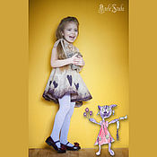 Работы для детей, ручной работы. Ярмарка Мастеров - ручная работа Платье для девочки из шерсти 16001. Handmade.