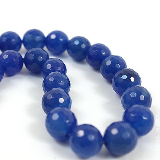Для украшений ручной работы. Ярмарка Мастеров - ручная работа. Купить Агат 12 мм синий и бордовый. Handmade. Синий