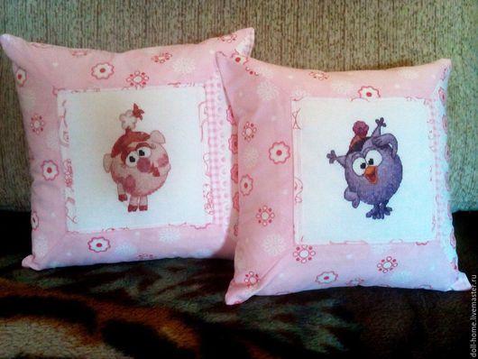 Текстиль, ковры ручной работы. Ярмарка Мастеров - ручная работа. Купить Подушка с вышивкой крестом. Handmade. Комбинированный, подушка на диван