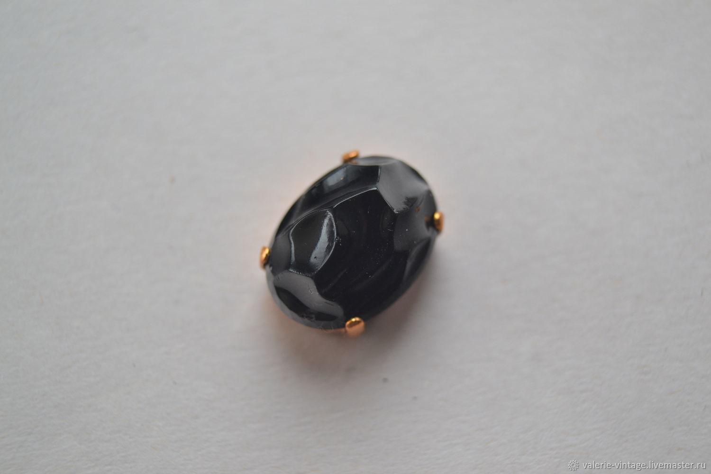 Vintage rhinestone 18h13 mm color Black, Rhinestones, Moscow,  Фото №1