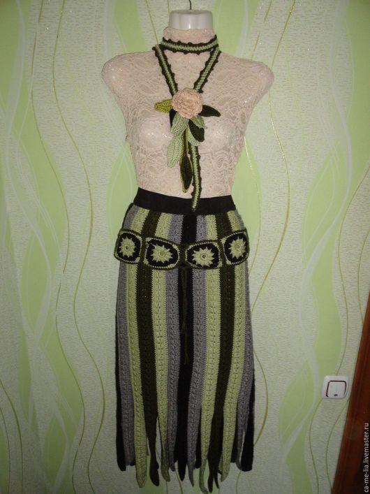 Теплая юбка ` Элегантность` ручной работы украсит гардероб любой женщины.