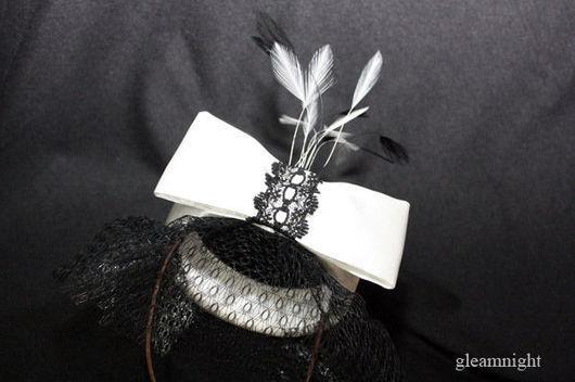 Fedoras & formal hats handmade. Livemaster - handmade. Buy Satin hat.Little hat, evening hat, mesh