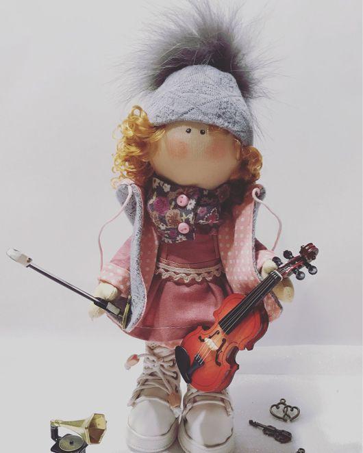Коллекционные куклы ручной работы. Ярмарка Мастеров - ручная работа. Купить Куколка малышка. Handmade. Комбинированный, трикотаж масло