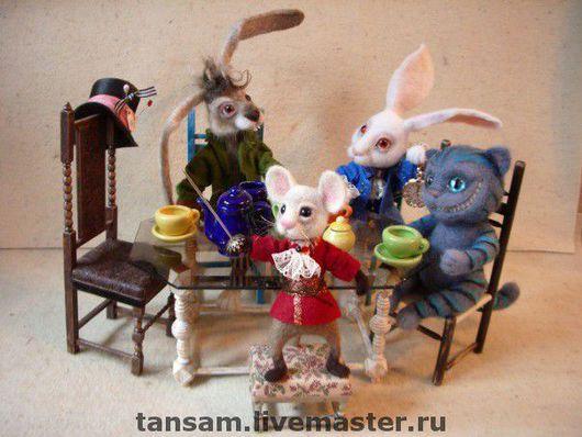Коллекционные куклы ручной работы. Ярмарка Мастеров - ручная работа. Купить Безумное чаепитие. Handmade. Алиса в стране чудес, фетр