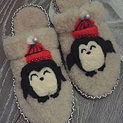 """Обувь ручной работы. Ярмарка Мастеров - ручная работа Тапочки """"А мы пингвинчики..."""". Handmade."""