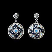Украшения handmade. Livemaster - original item Earrings Arteria. the element of water. Handmade.