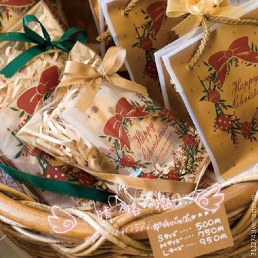 Упаковка ручной работы. Ярмарка Мастеров - ручная работа. Купить Новогодний пакет для упаковки  подарка.. Handmade. Золотой, пакет