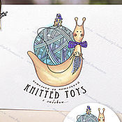 """Визитки ручной работы. Ярмарка Мастеров - ручная работа Логотип """"Knitted Toys"""" фирменный стиль. Handmade."""