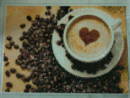 Интерьерные слова ручной работы. Ярмарка Мастеров - ручная работа. Купить Алмазная мозайка ( кофе для нее). Handmade. Комбинированный