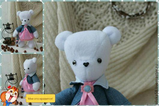 Мишки Тедди ручной работы. Ярмарка Мастеров - ручная работа. Купить Мишка Мисс Полина. Handmade. Белый