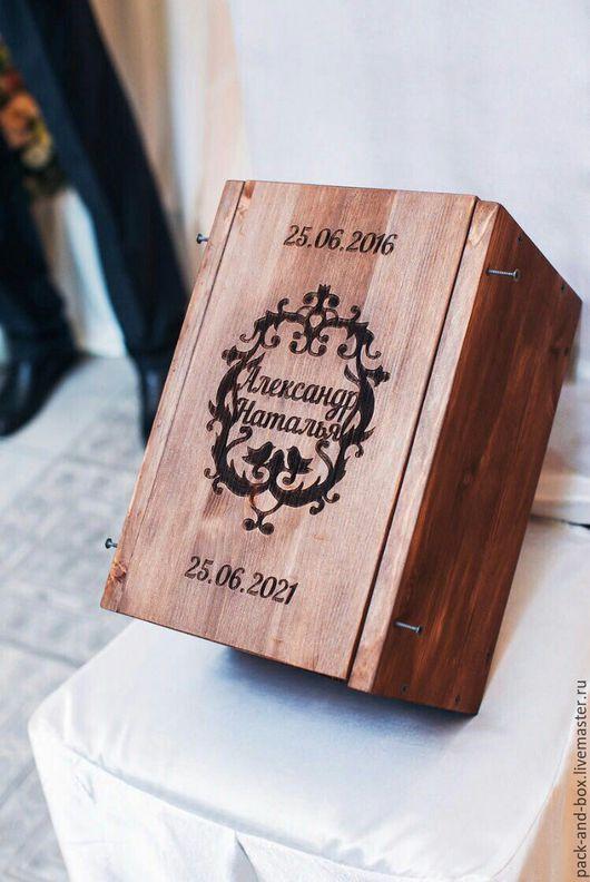 Упаковка ручной работы. Ярмарка Мастеров - ручная работа. Купить Деревянная коробка. Handmade. Коричневый, коробка деревянная, коробка для подарка