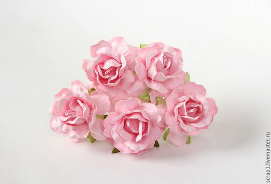 Открытки и скрапбукинг ручной работы. Ярмарка Мастеров - ручная работа. Купить Розы кудрявые 4 см  5 шт..Розовоперсиковые... Handmade.