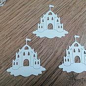 Материалы для творчества handmade. Livemaster - original item Cutting scrapbooking embossed - sand castle. Handmade.
