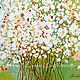 Картины цветов ручной работы. Ярмарка Мастеров - ручная работа. Купить Букет на счастье-картина маслом с ромашками, интерьер, в подарок. Handmade.