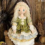 Куклы и игрушки ручной работы. Ярмарка Мастеров - ручная работа Феодора коллекционная текстильная интерьерная кукла на счастье. Handmade.