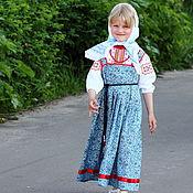 Русский стиль ручной работы. Ярмарка Мастеров - ручная работа Русский наряд (комплект для девочки) рост 110. Handmade.