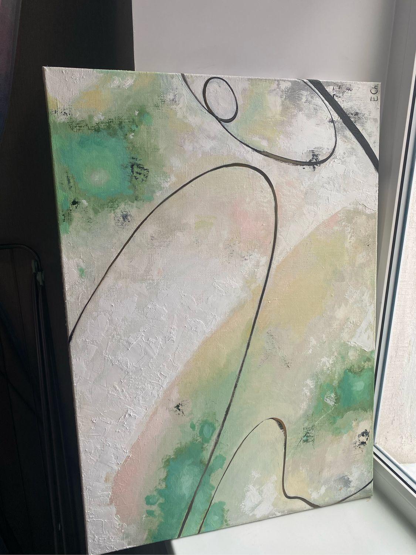 Интерьерная живопись . Картина . Холст . Масло . 2021 . « поворот » , Картины, Санкт-Петербург,  Фото №1