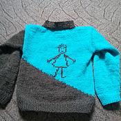 """Работы для детей, ручной работы. Ярмарка Мастеров - ручная работа Детский джемпер """"Человечки"""". Handmade."""