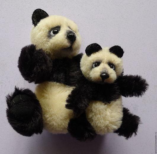 Игрушки животные, ручной работы. Ярмарка Мастеров - ручная работа. Купить Панды разного размера. Handmade. Комбинированный, подарок