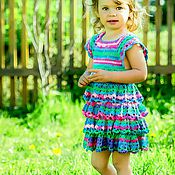 Работы для детей, ручной работы. Ярмарка Мастеров - ручная работа Вязаное платье. Handmade.