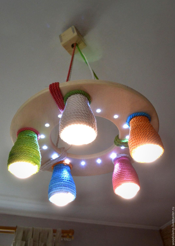 Как сделать люстра для детского комната