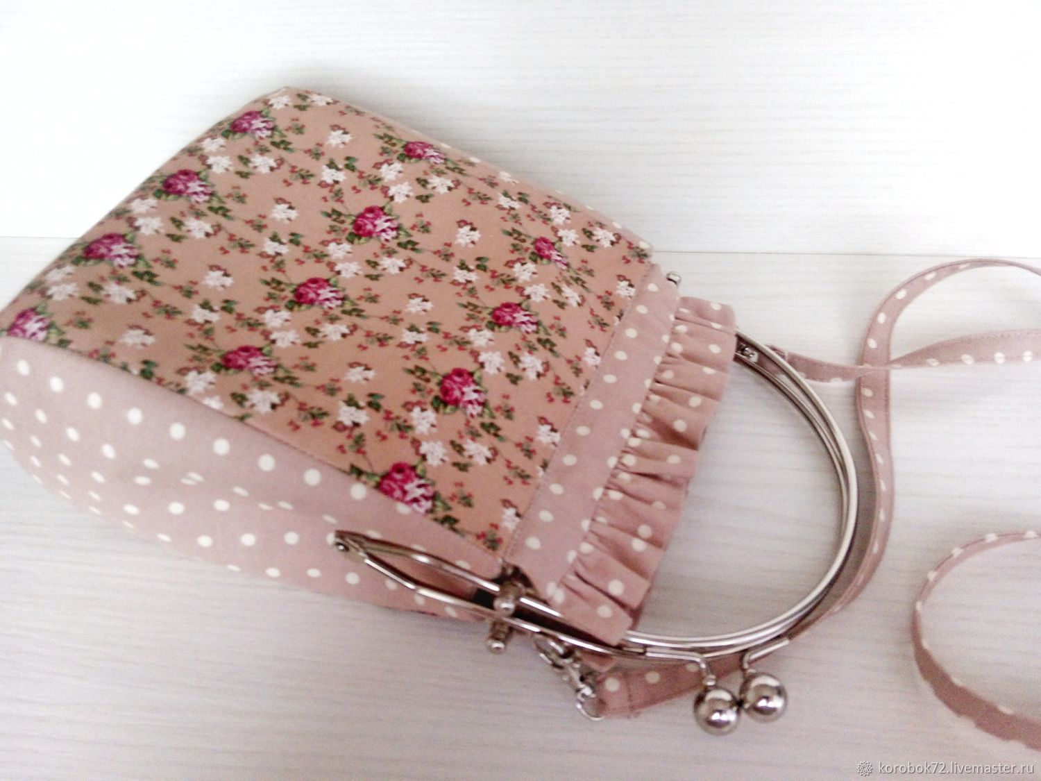 Handbag with clasp Summer bag rose, Clasp Bag, St. Petersburg,  Фото №1