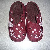 Обувь ручной работы. Ярмарка Мастеров - ручная работа Тапочки валяные Весёленькие из шерсти. Handmade.