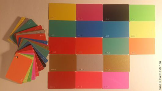 Другие виды рукоделия ручной работы. Ярмарка Мастеров - ручная работа. Купить Заготовки цветных пластиковых карт. Handmade. Пластиковые